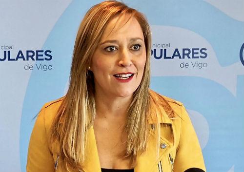 """La presidenta del PP de Vigo califica de """"insólito"""" que el alcalde decida """"bordear la legalidad"""" siguiendo con la instalación de las rampas mecánicas en Gran Vía"""