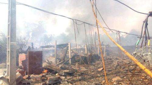 Al menos, 12 heridos en la explosión de un almacén pirotécnico en Tui