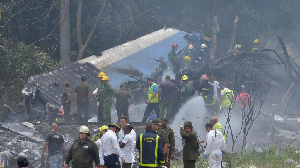 Decenas de víctimas, según los primeros datos, en un accidente de aviación en Cuba
