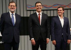 @marianorajoy, @Albert_Rivera y @sanchezcastejon pactan mantener la aplicación del Artículo 155 en Cataluña