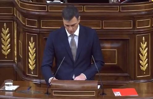 """Pedro Sánchez ofrece a Rajoy parar """"ahora mismo"""" la moción de censura si presenta su dimisión"""