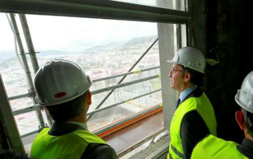 Feijóo visita as obras da Cidade da Xustiza de Vigo e reitera que estará funcionando a principios de 2020