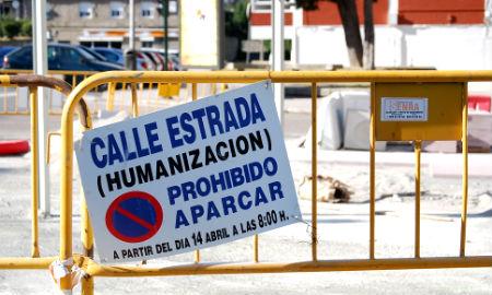 Obras de humanización en Rúa Estrada (Coia)