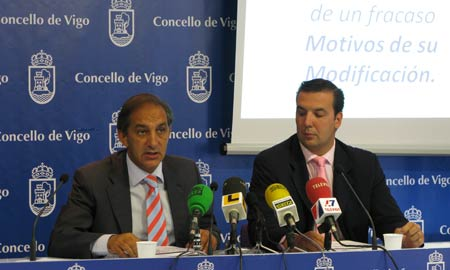 Chema Figueroa y Antonio Martiño hoy, en rueda de prensa