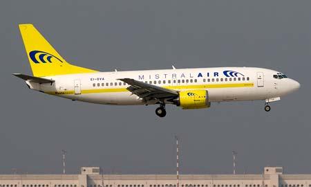 Uno de los aviones de Air Mistral.