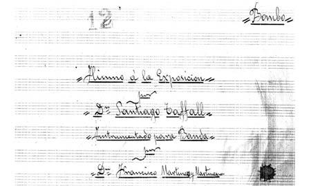 El encabezamiento de la partitura.