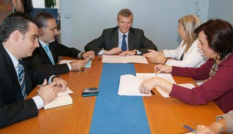 La delegación rusa en la lonja