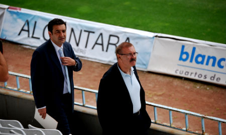 El teniente de alcalde y el concelleiro de Deportes, en Balaídos