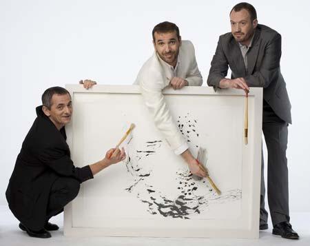 El reparto de la obra de Yasmina Reza, 'Arte'.