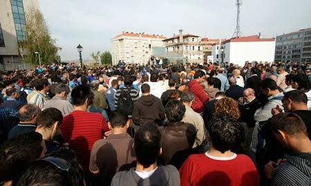 Una de las asambleas celebradas en la Praza do Rei.
