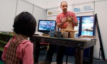 La artesanía de Malpica, en directo en ExpoGalaecia.