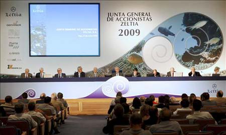 Imagen de la Junta General de Accionistas de Zeltia.