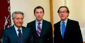Julio Fernández Gayoso, Alberto Núñez Feijóo y José Luis Méndez