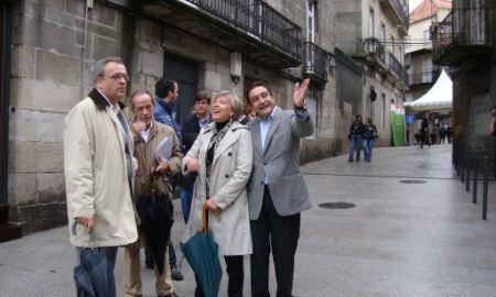 Inauguración das rúas do Casco Vello
