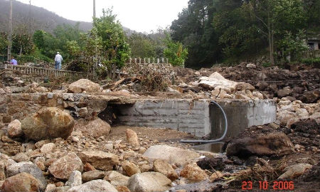 Foto de las inundaciones de 2006 tomada el día 23 de octubre