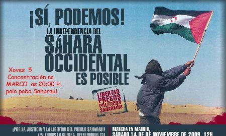 Cartel de la manifestación en Madrid y Vigo