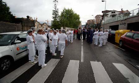 Una de las protestas de los trabajadores de Alfageme.