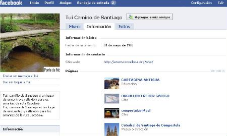 Perfil en Facebook do Camiño