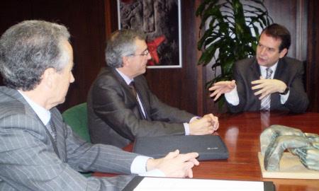 Reunión do alcalde cos responsables de Adif.