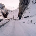 Estado de una de las carreteras cercana a Piedrafita do Cebreiro