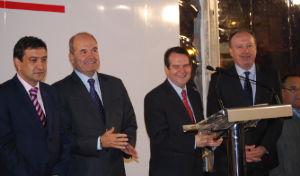 El teniente de alcalde se mostró encantado con la presencia del vicepresidente del Gobierno en la inauguración