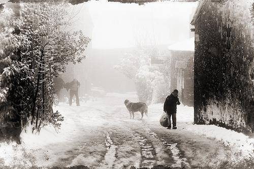 Paisaje nevado en O Cebreiro (Foto: Lugarzen)