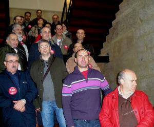 Roberto Tato foi arroupado por delegados e membros do seu sindicato chegados doutros concellos da provincia