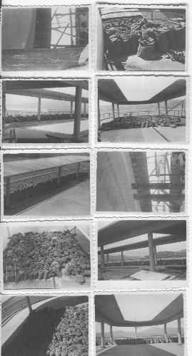 Pruebas de carga realizadas en la parte superior del edificio en 1944