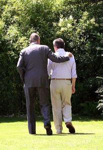 Última foto que se ha publicado de Adolfo Suárez, el año pasado, con el Rey