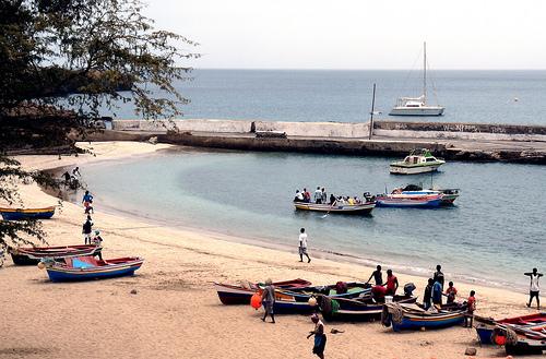 Illa de Santiago en Cabo Verde.