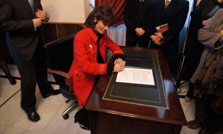 La nueva cónsul de Perú, Rosa Montenegro.