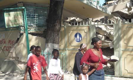 El 70% de Puerto Príncipe, destruido. Fotos: Actionaid.