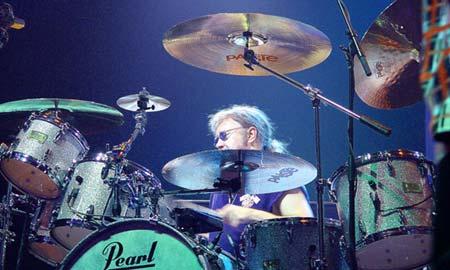El batería de Deep Purple, Ian Peace.