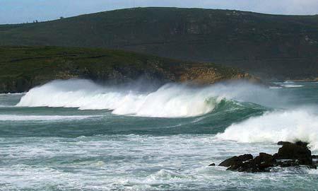 Las olas pueden alcanzar los 4,5 metros.