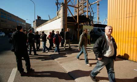 Los trabajadores se concentraron a las puertas de Barreras.