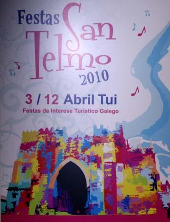O cartaz gañador para anunciar as festas de San Telmo 2010.