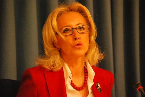 La presidenta del Puerto, Corina Porro