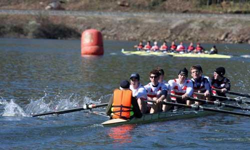 La selección austriaca fue la última en tomar la salida del Descenso do Ribeiro.