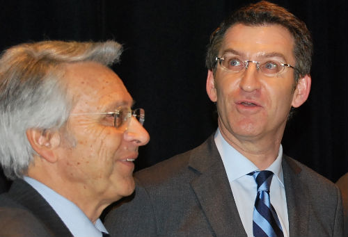 Julio Fernández Gayoso y el presidente Feijóo el pasado día 18, en Vigo