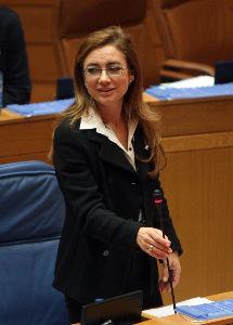 La conselleira de Facenda durante una intervención en el Parlamento de Galicia