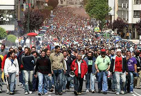 Os traballadores sairán en manifestación pola cidade
