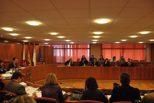 Un momento del Pleno del Concello