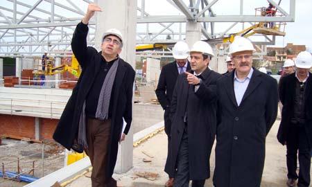 Santi Domínguez e Xabier Alonso na visita a Navia.