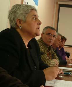 La actual junta directiva, encabezada por Elena González.