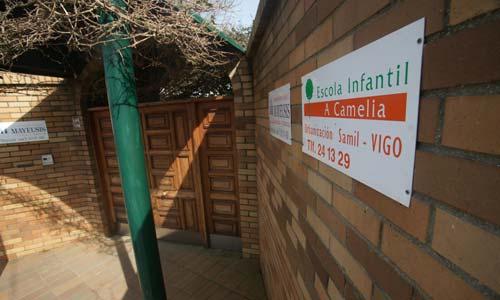 La escuela de educación infantil La Camelia, en Navia.