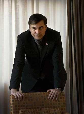 El presidente de Georgia,  Mijaíl Saakashvili.