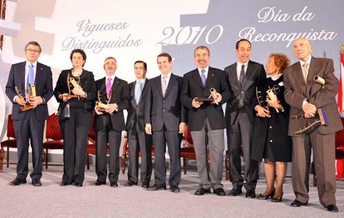 Os galardonados na Gala da Reconquista.