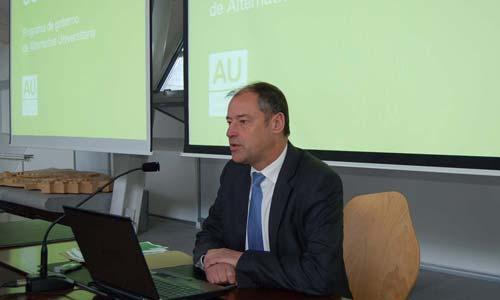 El candidato a rector de la Universidade de Vigo, Salustiano Mato.
