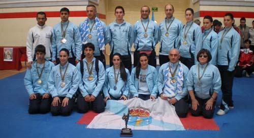 A selección galega acadou 10 medallas no Open Sánche Élez de Leganés.