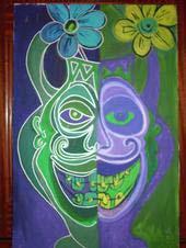 Un dos cadros da mostra.